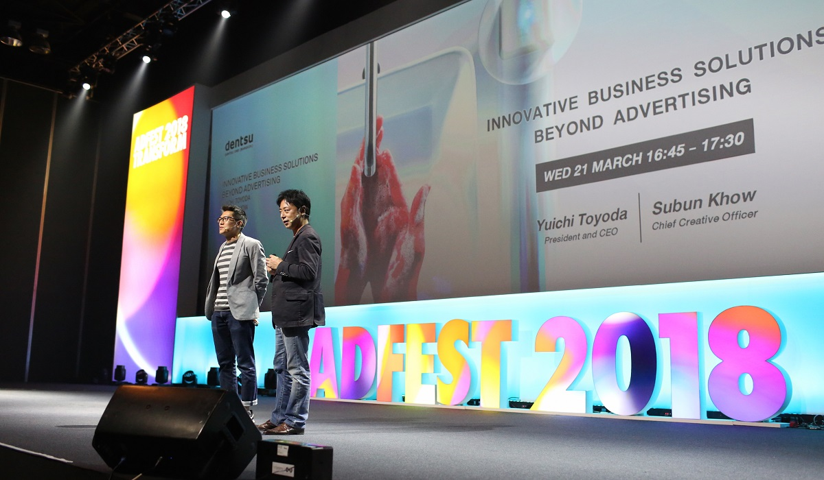 Yuichi Toyoda, President and CEO and Subun Khow, Chief Creative Officer Speak at ADFEST 2018